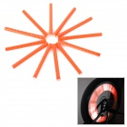Bike Bicycle Reflective Spoke Clip Stripe - Orange Red (12 PCS)