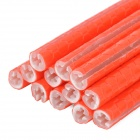 Bike Bicycle Reflective Spoke Clip Stripe - Orange Red (12PCS)