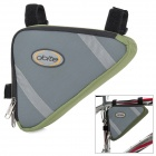 DOITE Outdoor Bicycle  Bike Top Tube Triangle Bag - Green + Grey