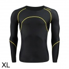Santic MN120257 Quick Dry Elasticity Cycling Thermal Underwear - Black (Size XL)