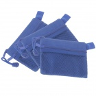 Double-deck Zipper Style B8 Document File Pocket  - Blue(3 PCS)