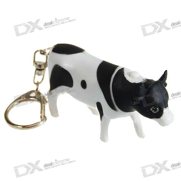 Cute Milk cow Light LED Flashlight with Sound Effects (3*AG10)
