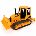 Plastic Bulldozer Toy - Black + Yellow + Gray