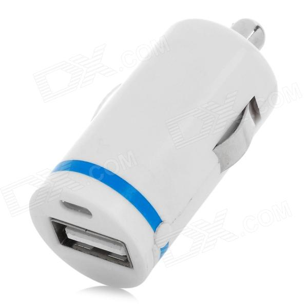 ZH-43 Mini Portable USB Outpout Car Charger for Cellphone - White