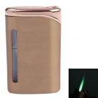 6471  Fashionable Business Green Flame Butane Lighter - Copper
