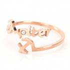 SHIYING c03252 Stylish Letter Style Zinc Alloy Women's Ring - Rose Gold (US Size 3.5)