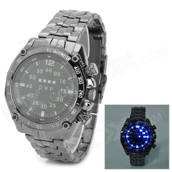 TVG KM3101 Fashion Zinc Alloy Digital Wrist Watch w/ LED / Calendar for Men - Black (2 x CR2016)