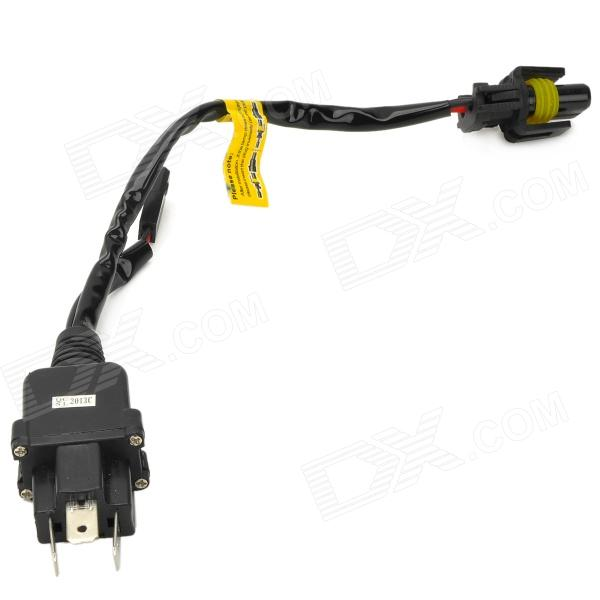 C28 PVC 3-Flat-Pin Plug Connection Cable for H4 Xenon Lamp - Black