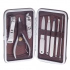 JDM CY-A2 8-in-1 High Grade Stainless Steel Nail Care Manicure Set - Silver