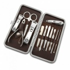 JDM CH-A6 10-in-1 High Grade Stainless Steel Nail Care Manicure Set - Silver