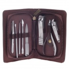 JDM CY-D2 8-in-1  High Grade Stainless Steel Nail Care Manicure Set - Silver