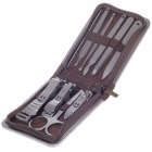 JDM CH-C2 10-in-1  High Grade Stainless Steel Nail Care Manicure Set - Silver