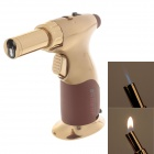 JOBON ZB-529 High Quality Multi Purpose Zinc Alloy Windproof Lighter - Gold + Brown