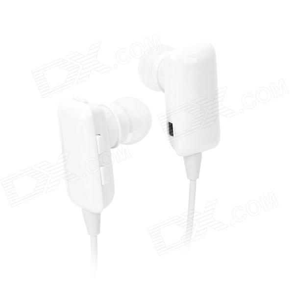 ROMAN S301 130mAh Dual Channel Bluetooth V2.1 + EDR Stereo Headphone w/ Microphone - White