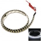 Dual-Row Waterproof 10W 740lm 144-SMD 1210 LED White Light Car Decoration Strip (12V / 60cm)