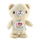 SYVIO Walking & Talking Cute Sound Recording Bear - Creamy White