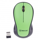 Sunrose W6200 2.4G 1000dpi Wireless Optical Mouse - Schwarz + Grün (1 x AA)