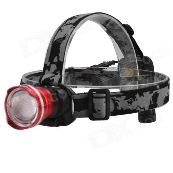 SingFire SF-611C 600lm Zoomable Big Lamp Rechargeable Headlight w/ Cree XM-L T6, Charger, Battery 950lm 3 mode white bicycle headlamp w cree xm l t6 black silver 2 x 18650