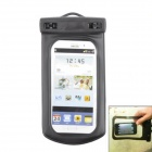 Universal 6.5 inch Cellphone Waterproof Bag for Samsung i9500 / 9300/ iPone 5 / iPone 4S - Black