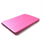 Silking Cool fashion Protective PU Leather for the mini iPad -Pink