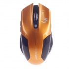 Microkingdom M7 Vogue Wireless 2.4G 1200dpi Optical Mouse w /Mini USB Receiver -Black +Golden Orange