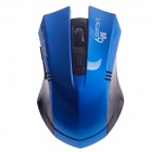 Microkingdom M9 Vogue Wireless 2.4G 1200dpi Optical Mouse w / Mini USB Receiver - Black+Blue