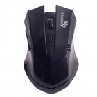 Microkingdom M9 Vogue Wireless 2.4G 1200dpi Optical Mouse w/ Mini USB Receiver - Black (2 x AAA)