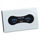 UGREEN 20247 USB3.0 Super Speed Hub 7 Ports w/ Switch - White + Black