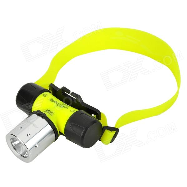 RAYSOON Q18 450lm 3-Mode White Diving Headlamp w/ CREE XM-L T6 - Yellow + Silver + Black (1 x 18650) 600lm 3 mode white bicycle headlamp w cree xm l t6 black silver 4 x 18650