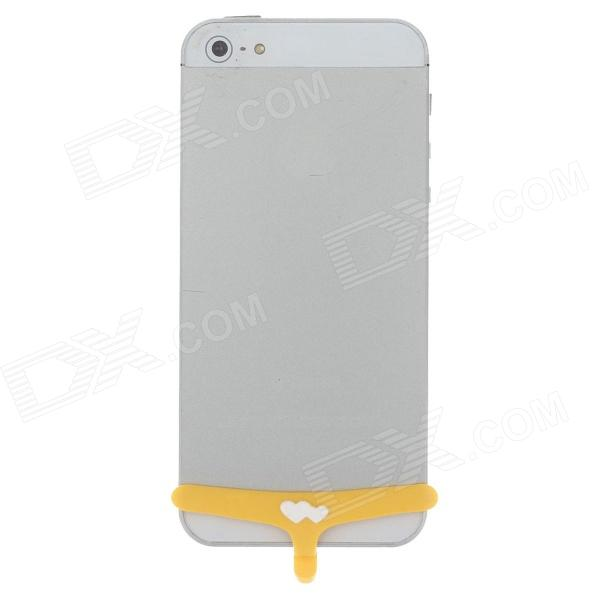 Cute Elephant Briefs Style Silicone Home Button Protector Cover for Iphone 4 / 4S / 5 - Yellow