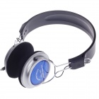 Microkingdom MK-756 High Quality Stereo Headphone-Black + Silver + Blue