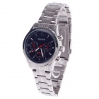 Daybird Business Quartz Analog Wrist Watch for Men - Silver + Black(1x LR626)