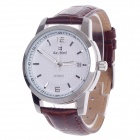 Daybird 3789 Automatic Men's Wrist Watch + Simple Calendar - Brown + Silver