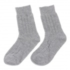 Lässige Herren Wool Cotton Socks - Light Grey (Paar)