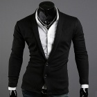 Men's Sweater Pile Collar - Black (XL)