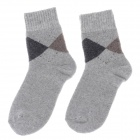 Winter Casual Men's Thickened Warmer Rabbit Wool Cotton Socks - Grey  + Black + Brown (Pair)