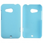 Fashionable Super Thin Protective Glaze PC Back Case for HTC Desire 200 - Sky blue