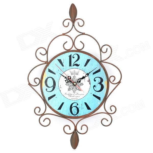 Retro European Style Decorative Iron Wall Clock (1 x AA) ac 250v 15a 25mm dustproof metal male female aviation plug connector joint free shipping