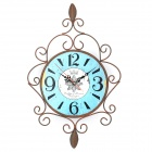 Retro European Style Decorative Iron Wall Clock (1 x AA)