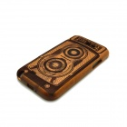 NEW Detachable Protective Wooden Back Case for Samsung  N7100 - Brown + Black