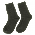 Casual Men's Wool Cotton Socks - Blackish Green (Pair)