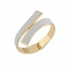 Euramerican Fashionable Character Ringent Bangle Bracelet - Silver + Golden