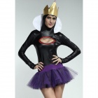 Take A Bite Fairytale Witch Fancy Dress Costume - Black + Purple (Free Size)