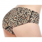 Fashion Seamless Thicken Nylon + Spandex Underwear for Women - Black + Brown (L)
