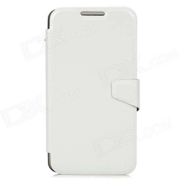 Protective PU Leather Flip Open Case w/ Card Slots for Samsung Note 3 / N900 - White alis protective pu leather flip open case w card slots for samsung i8262 white