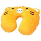 Cute Tiger U-Style Car Travel Neck Head Cushion Pillow - Brown + Black