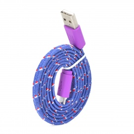 USB to Micro USB Data Charging Cable for Samsung+More - Purple (100cm)