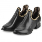 Fashion Unique PU Ankle Boots for Women - Black (Size 38 / Pair)