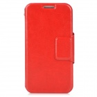 Protective PU Leather Case w/ Card Slots for Samsung i9500 / S4 - Red