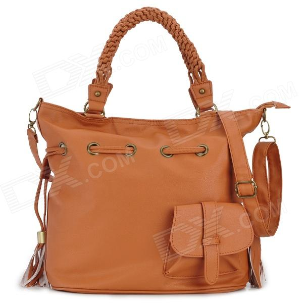 Water Resistant Stylish PU Shoulder Bag / Handbag for Women - Brown
